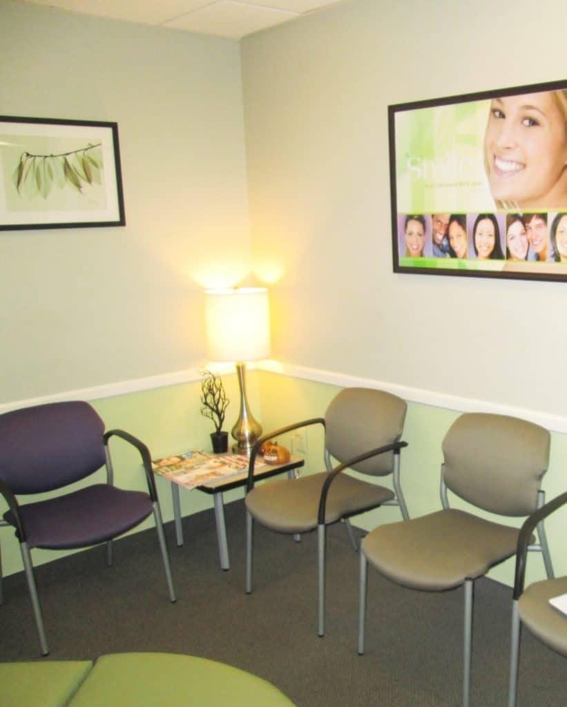 Straighten Up Orthodontics maryland waiting area